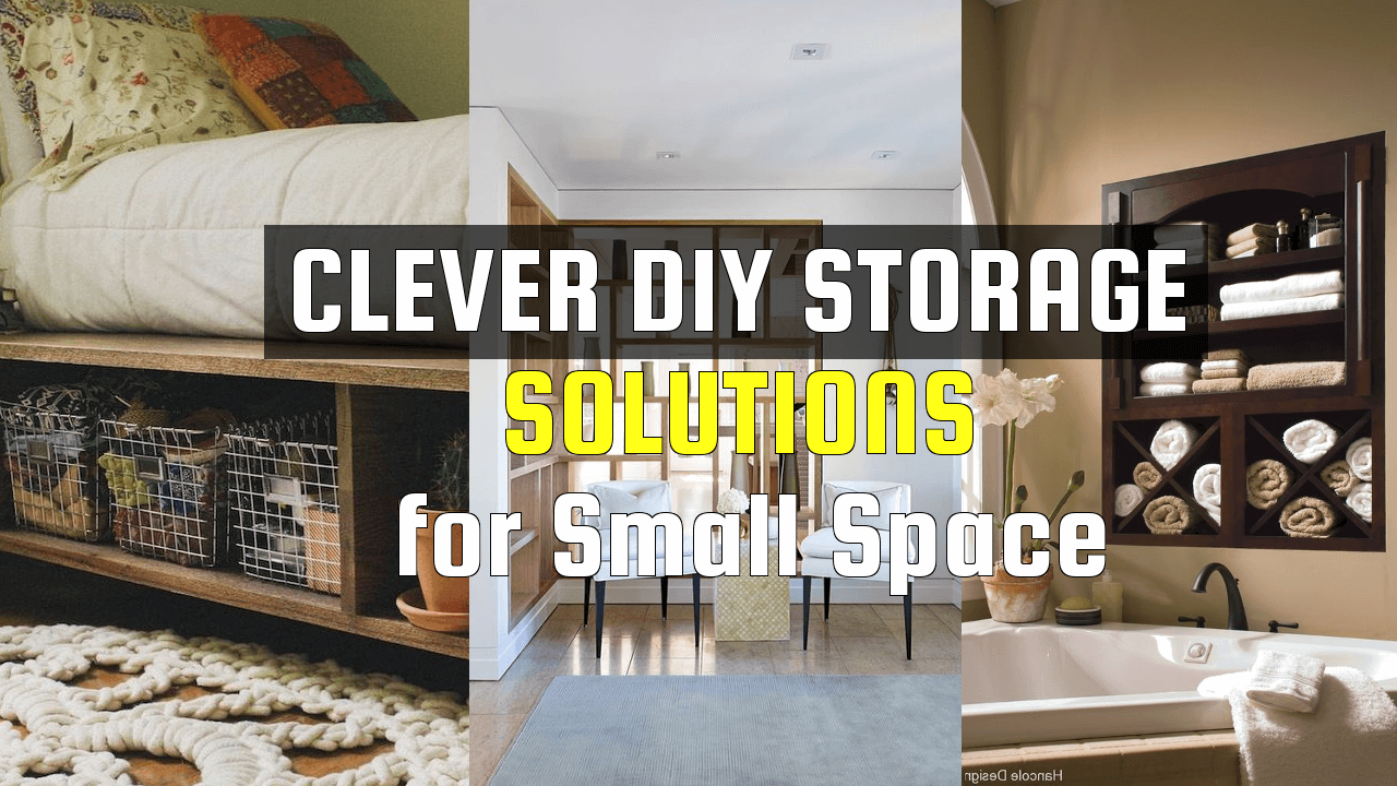 Clever DIY Storage Solutions for Small Space via simphome.com 1