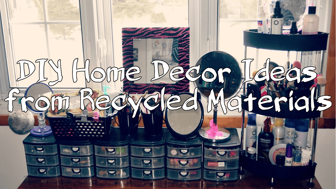 5 Diy Home Decor Ideas From Recycled Materials Simphome