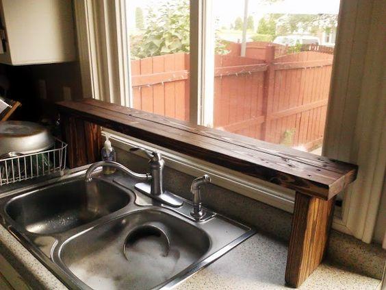 Pallet Wood Sink Shelf Simphome com