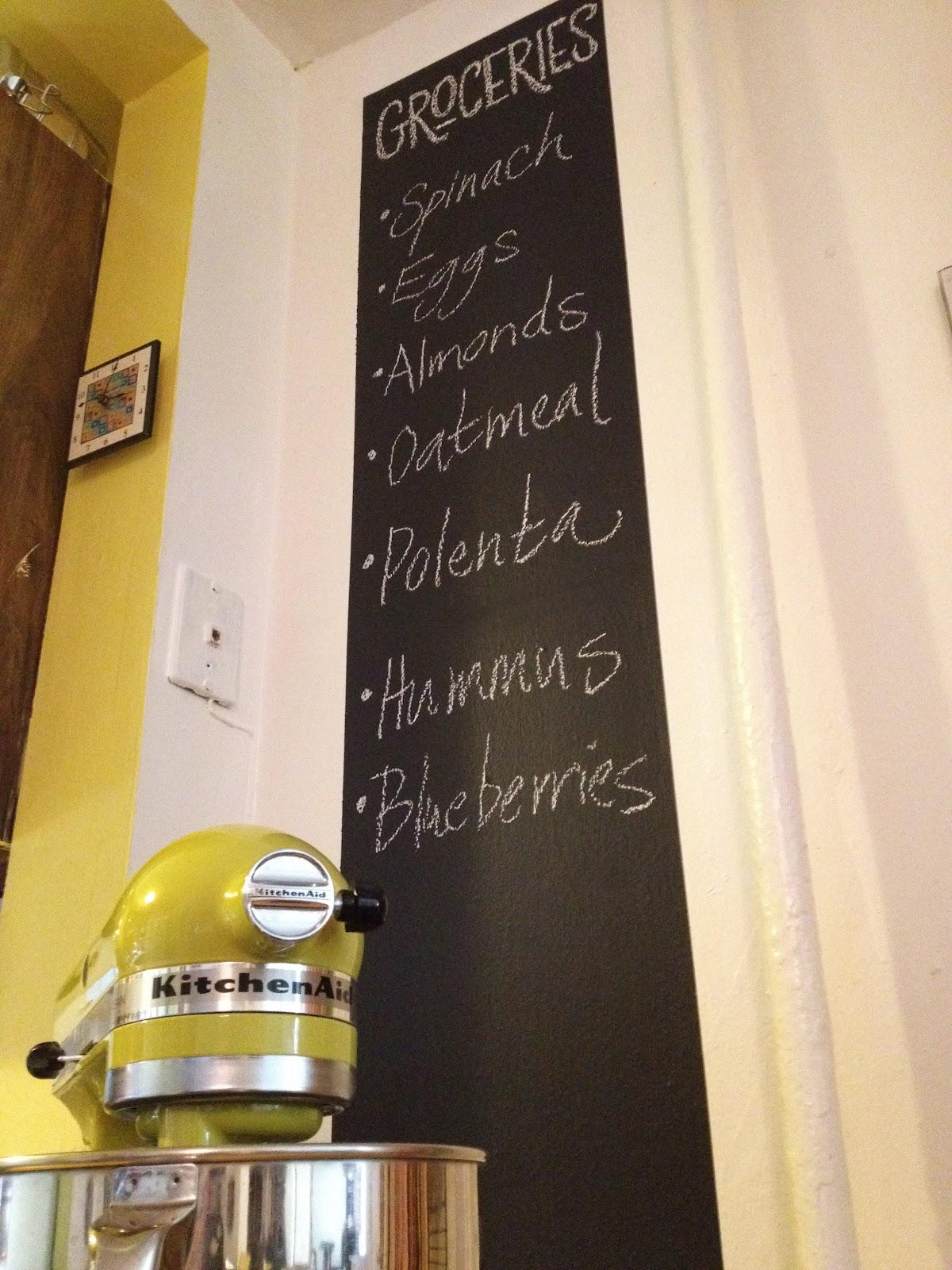 mixer kitchen blackboard long