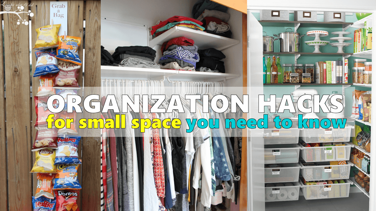 organization hacks for small space Simphome com