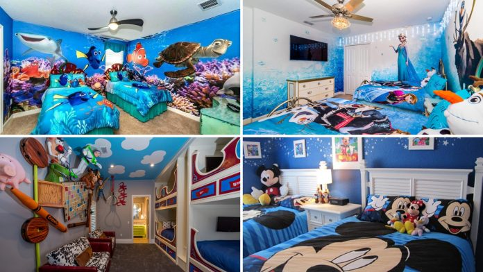 simphome disney bedroom