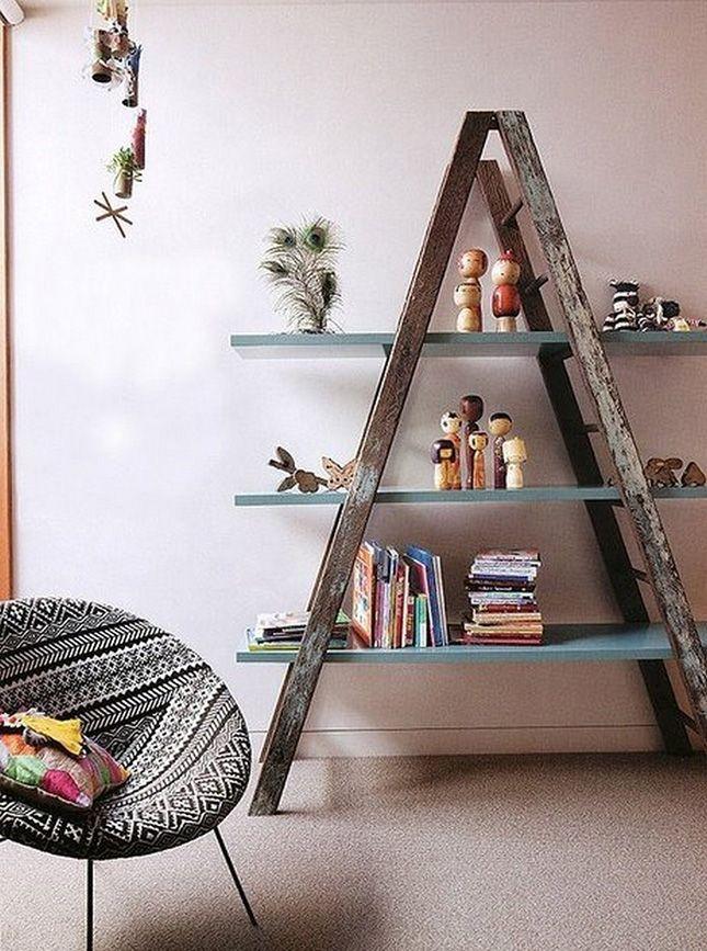 simphome old ladder shelf