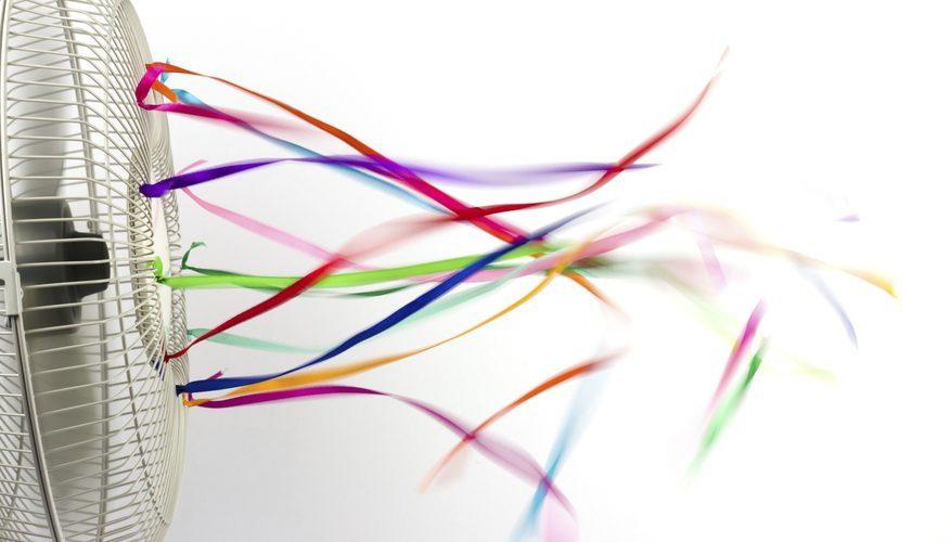 simphome ribbon on fan