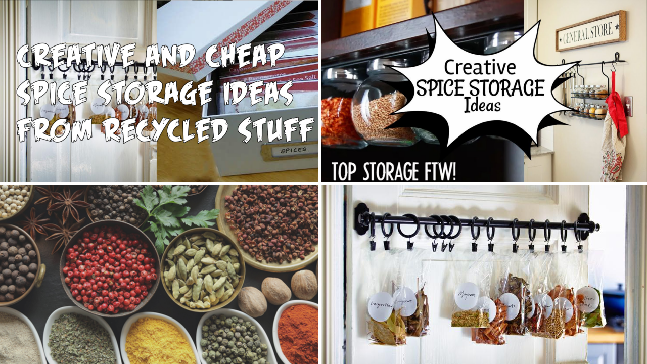 10 Creative and Cheap Spice Storage and 5 from Recycled Stuff via simphome thumbnail