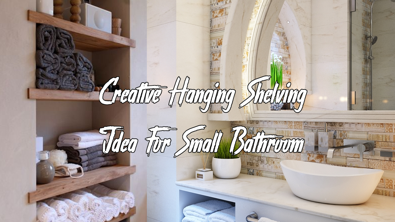 simphome hanging shelving small bathroom