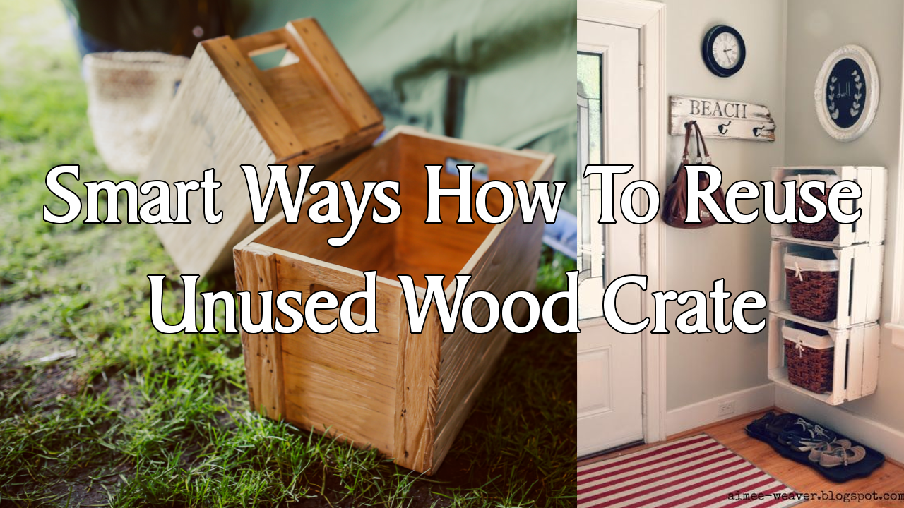 simphome unused wood crate