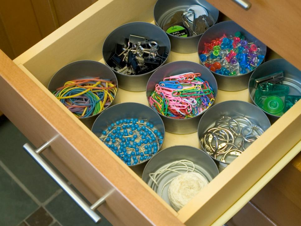 19 tin can rubber band storage