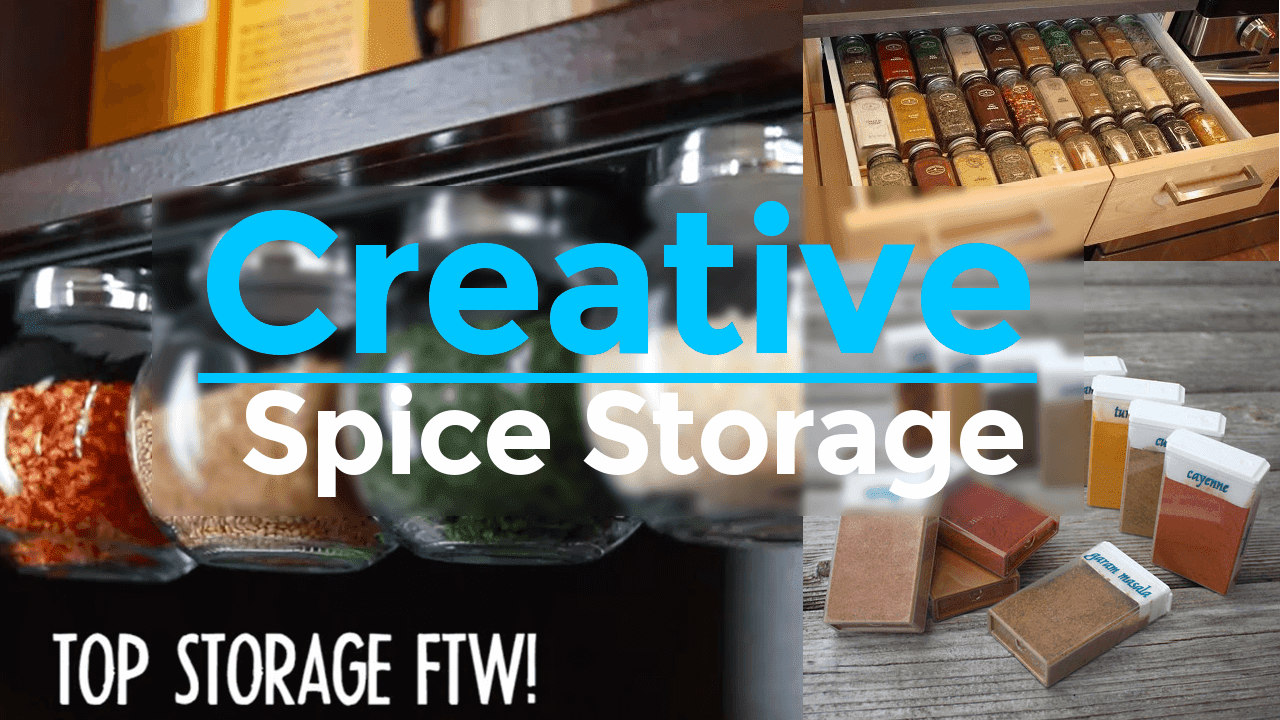 creative spice storage ideas via simphome.com