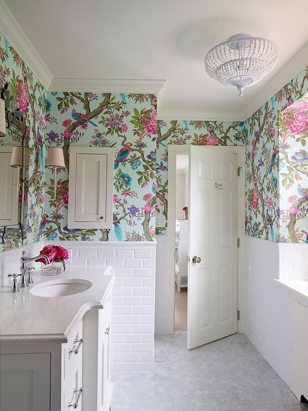 simphome bathroom wallpaper