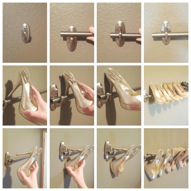 6 Command Hooks and Hanging Curtains for Shoes simphome com