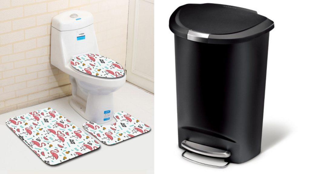 simphome - bath mat & trash bin