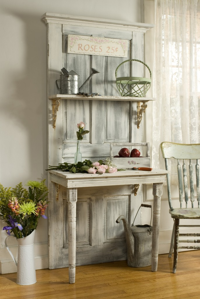 1 Rustic Table and Shelf Simphome com