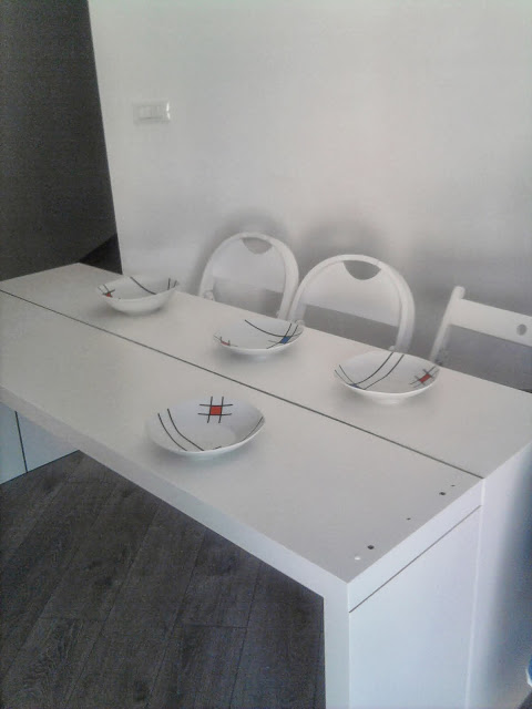 12. Double it! Malm console becomes a bigger table