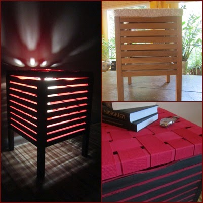 25. Add a lamp to the inside of a Moleg storage stool