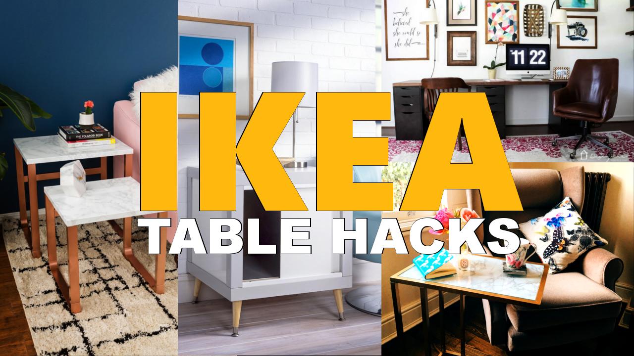 27 Tempting IKEA Table hacks