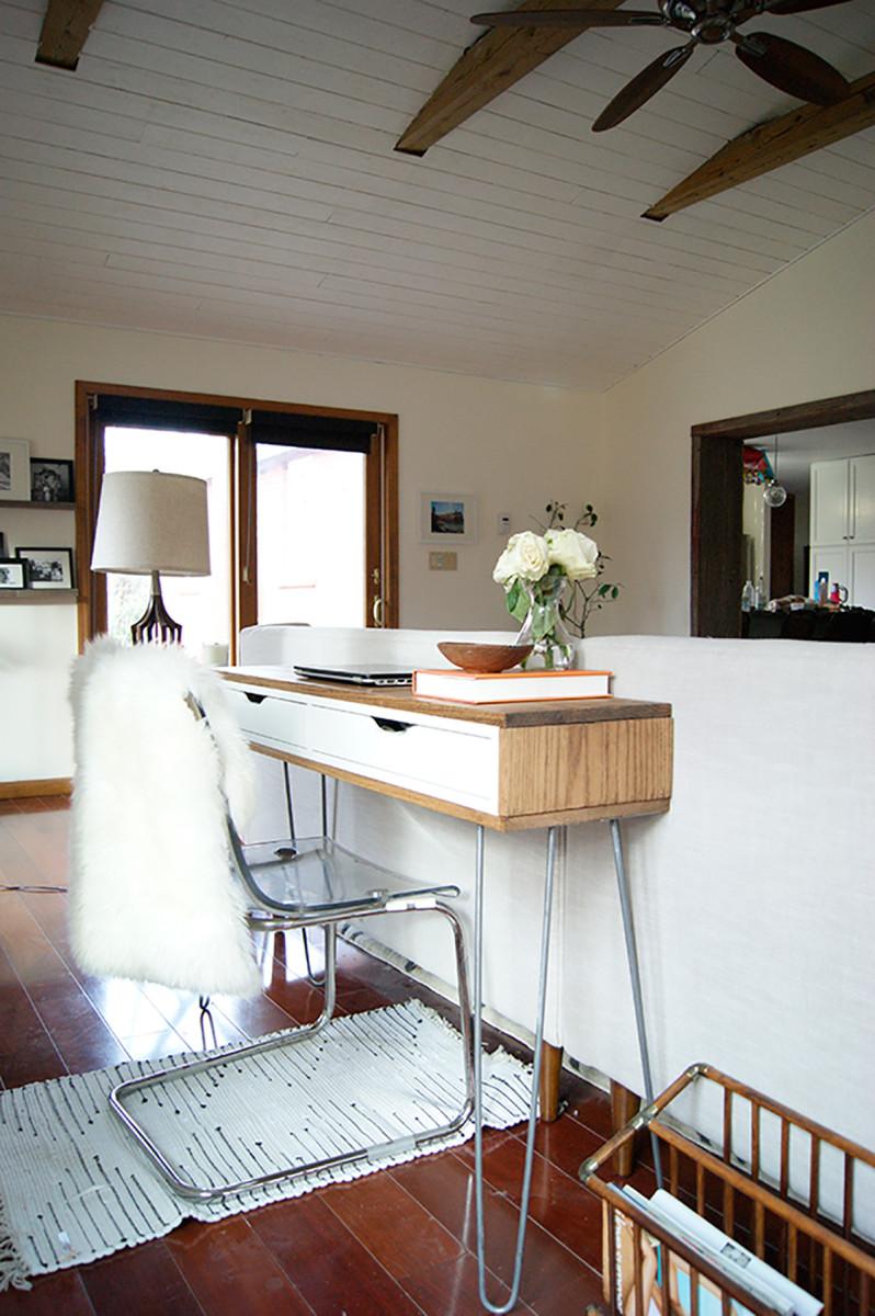 29. Slim Mid-Century Laptop Desk