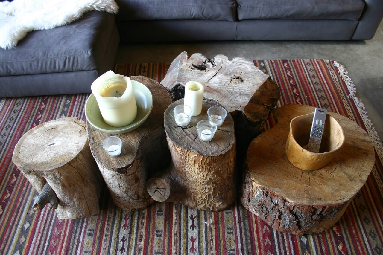 4 Tree Trunk Coffee Tables Simphome com