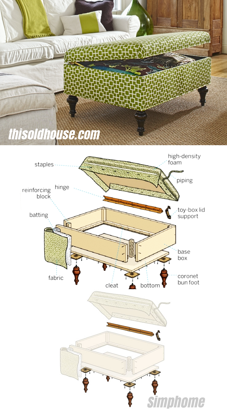 4 Use plywood foam and fabric to create a handsome custom piece via simphome
