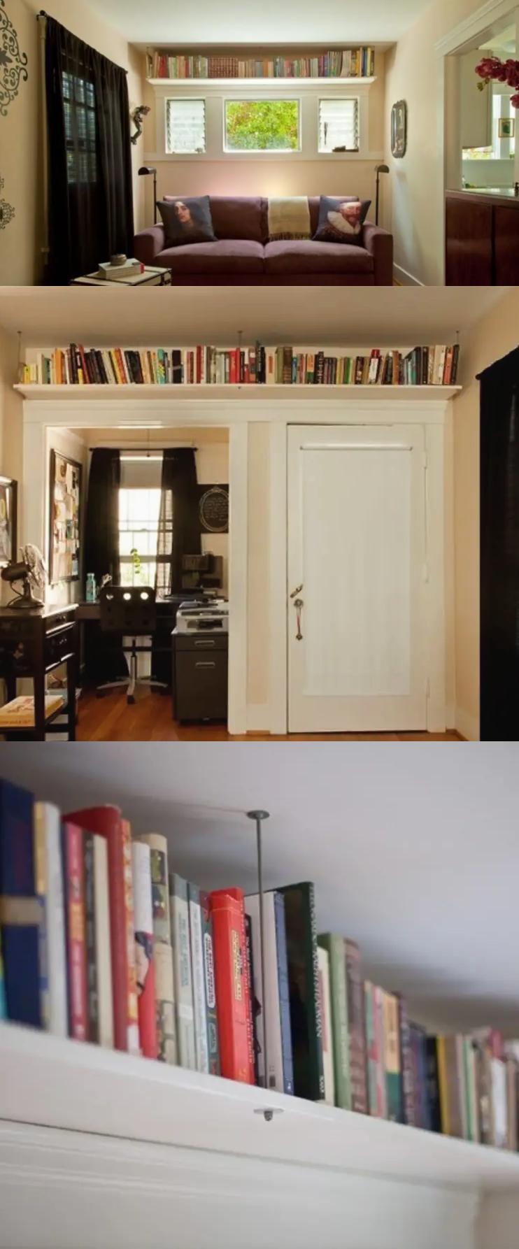 5 Shelves near the ceiling via simphome