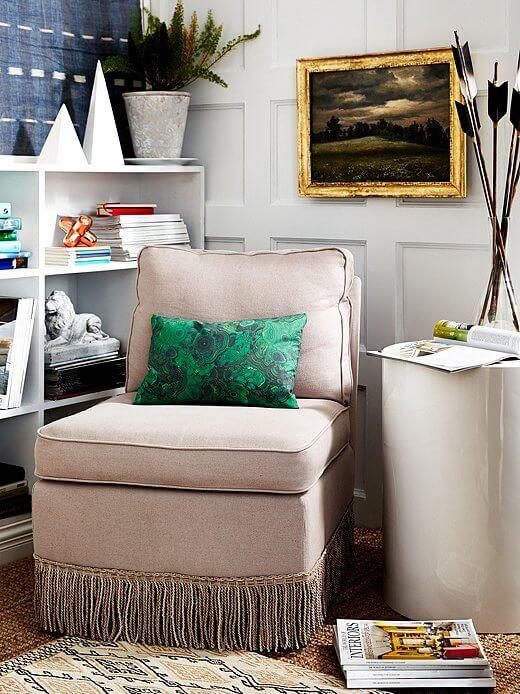 A Fringed Slipper Chair Simphome com