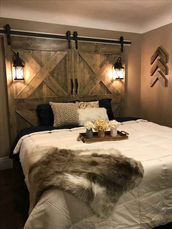 Barn Door Headboard 3 Simphome com