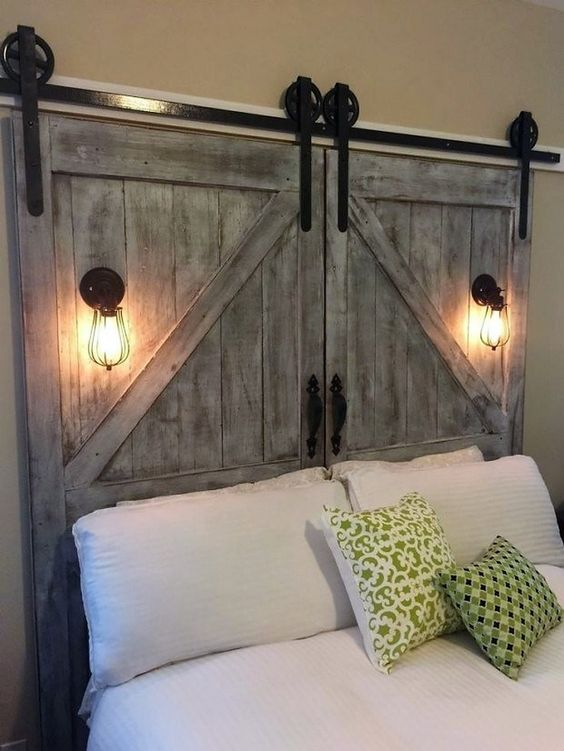 Barn Door Headboard Simphome com