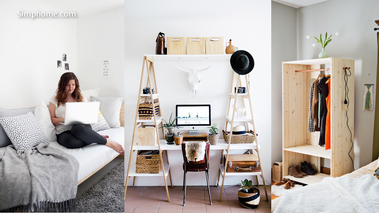 11 DIY Project ideas for Small and Limited Space Bedroom - Simphome