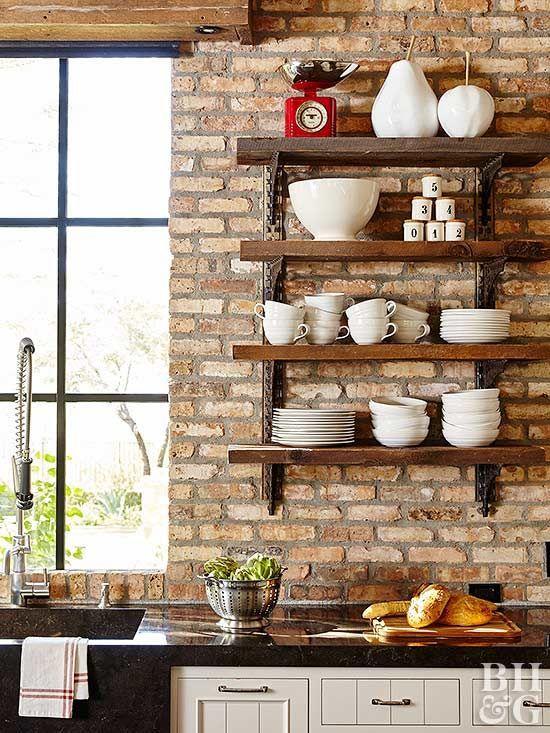 Industrial and Vintage Open Shelf Simphome com