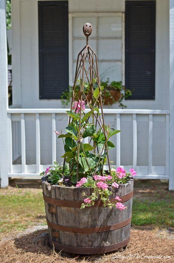 simphome barrel planter