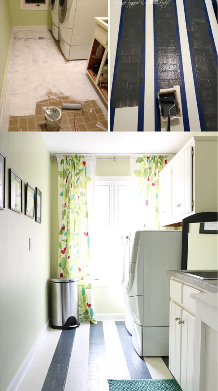 1. Painting linoleum or vinyl floor