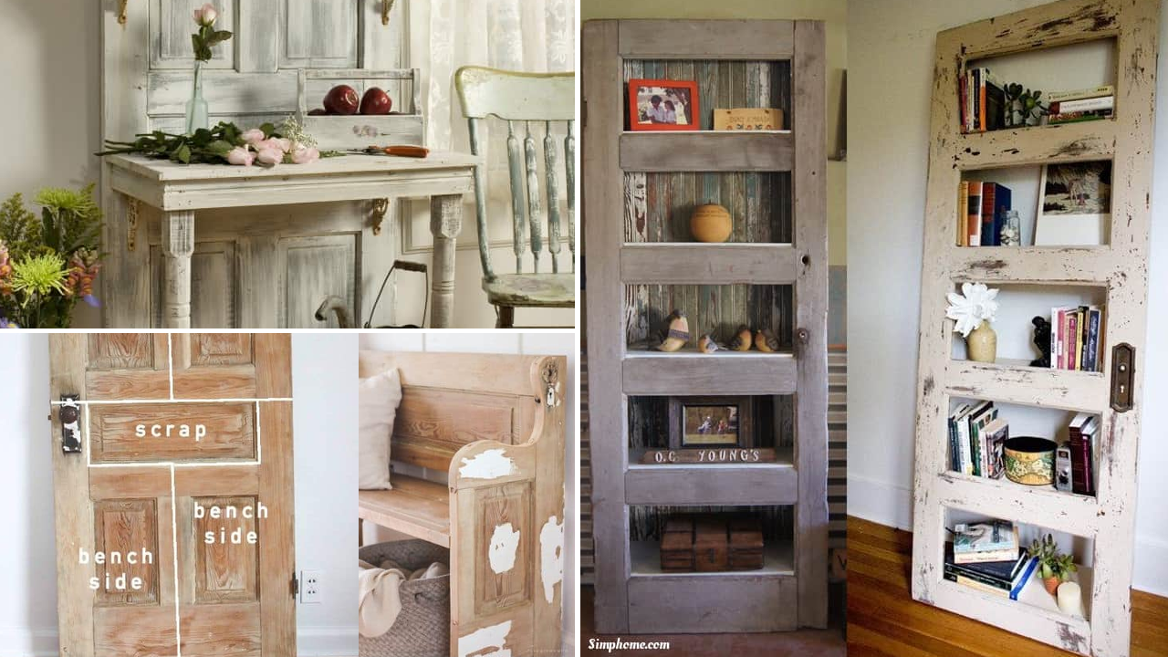 10 DIY Projects Re purposing Old Doors Simphome com featured