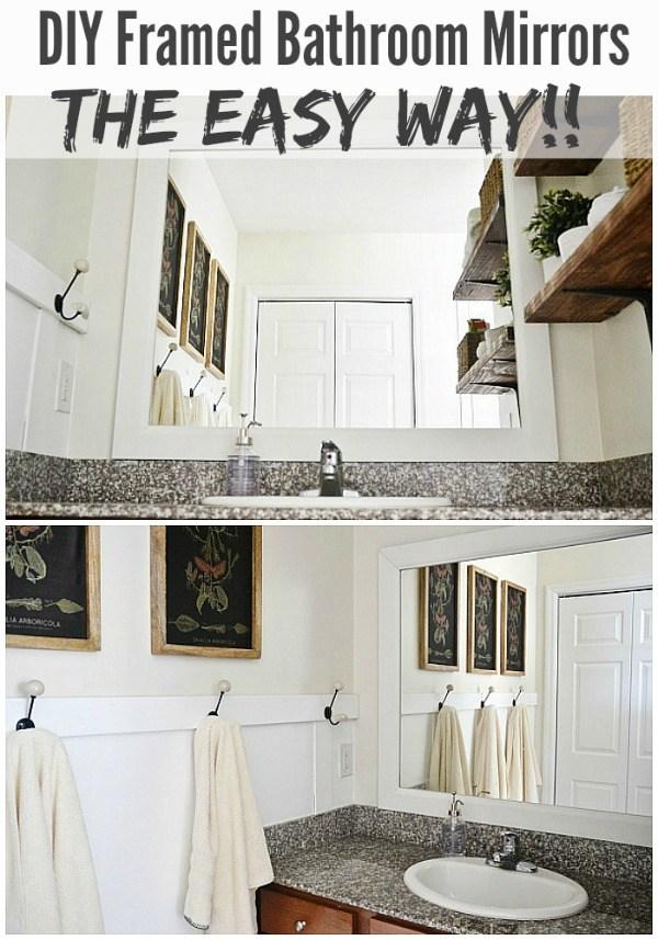 28 Rustic style bathroom mirror frame
