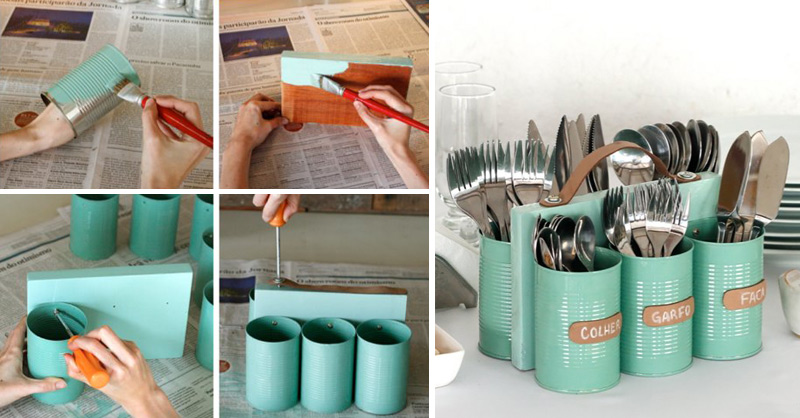 3. Cutleries Can Organizer