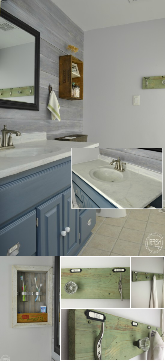 7 Vintage Rustic Industrial Bathroom Reveal under 200 via simphome