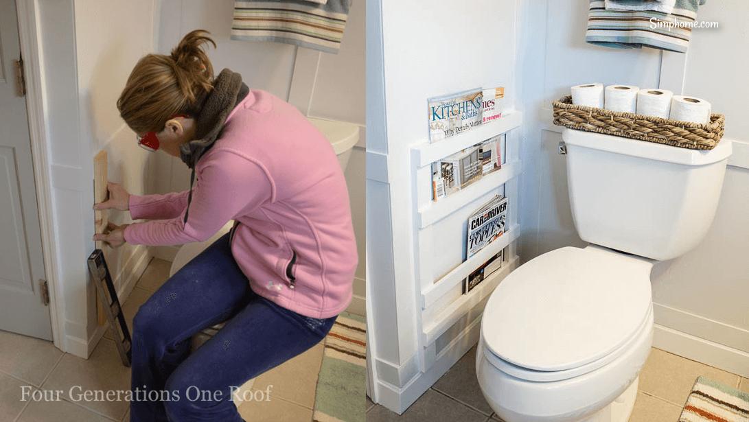 Bathroom DIY Magazine Rack 5 Simphome com