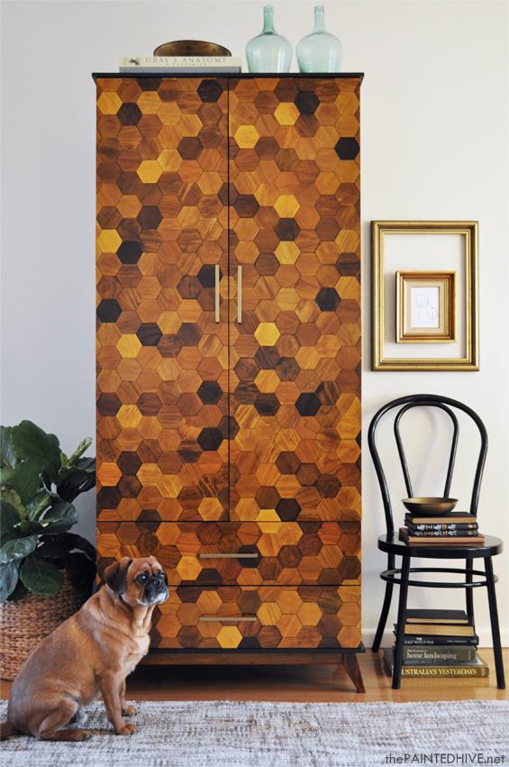 Beautiful DIY Honeycomb Armoire 16 Simphome com
