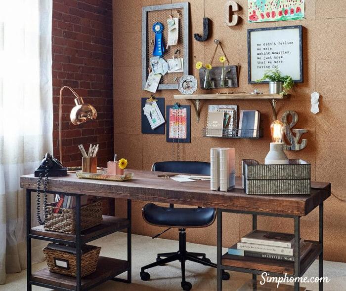 DIY Corkboard Office wall 8 Simphome com
