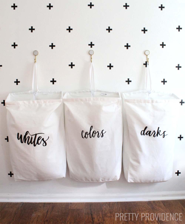 DIY LAUNDRY ORGANIZATION BAGS 20 Simphome com