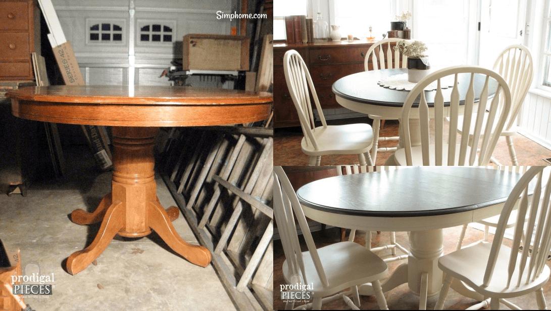 Farmhouse Table Makeover with HomeRight Sprayer 4 Simphome com