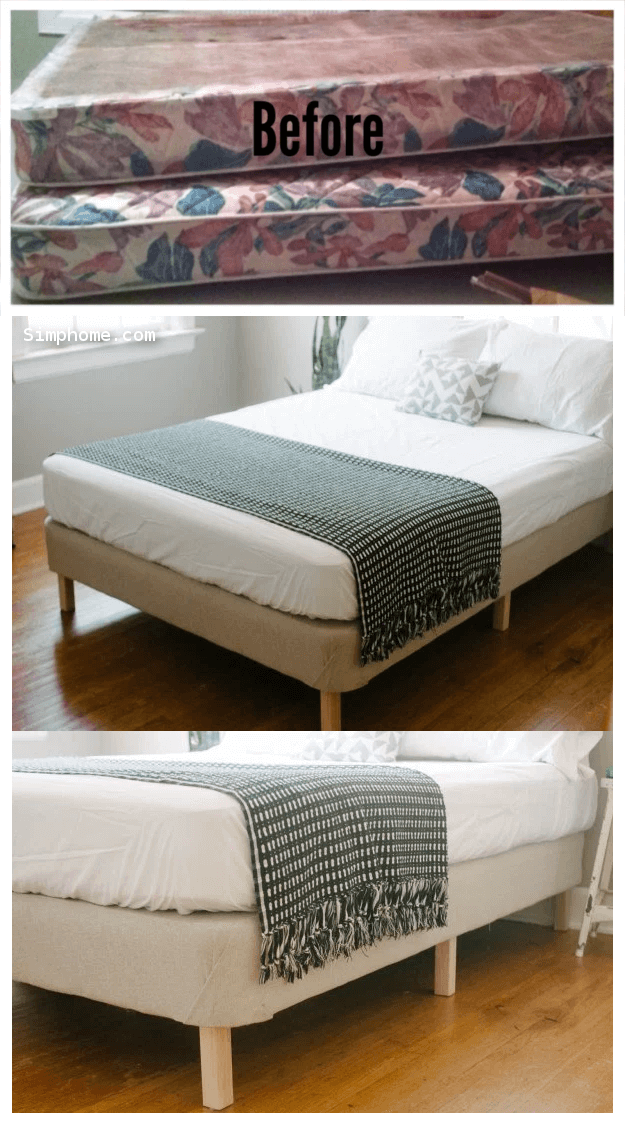 How to Make a Bed Frame From Box Spring 12 Simphome com
