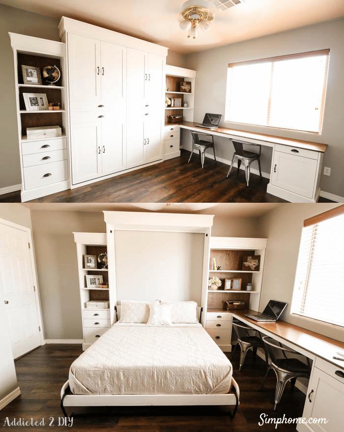 Modern Farmhouse Murphy Bed Simphome com