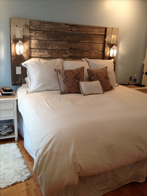 Wooden Planks Headboard 3 Simphome com