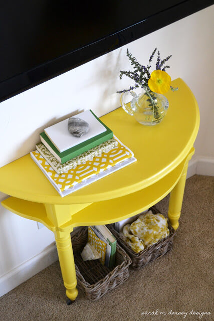 Yellow Console Table for Master Bedroom 24 Simphome com