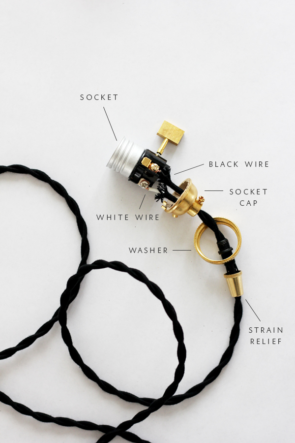 diagram of parts to assemble a socket light DIY via coco kelley simphome com