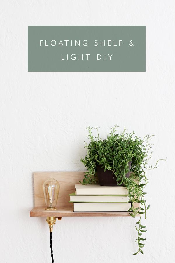 floating shelf and light DIY coco kelley simphome com