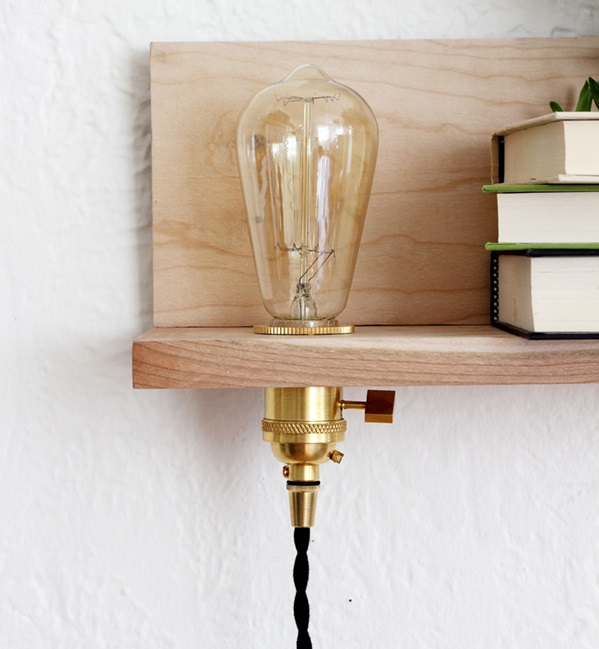 floating shelf with lighting DIY via coco kelley and Simphome com