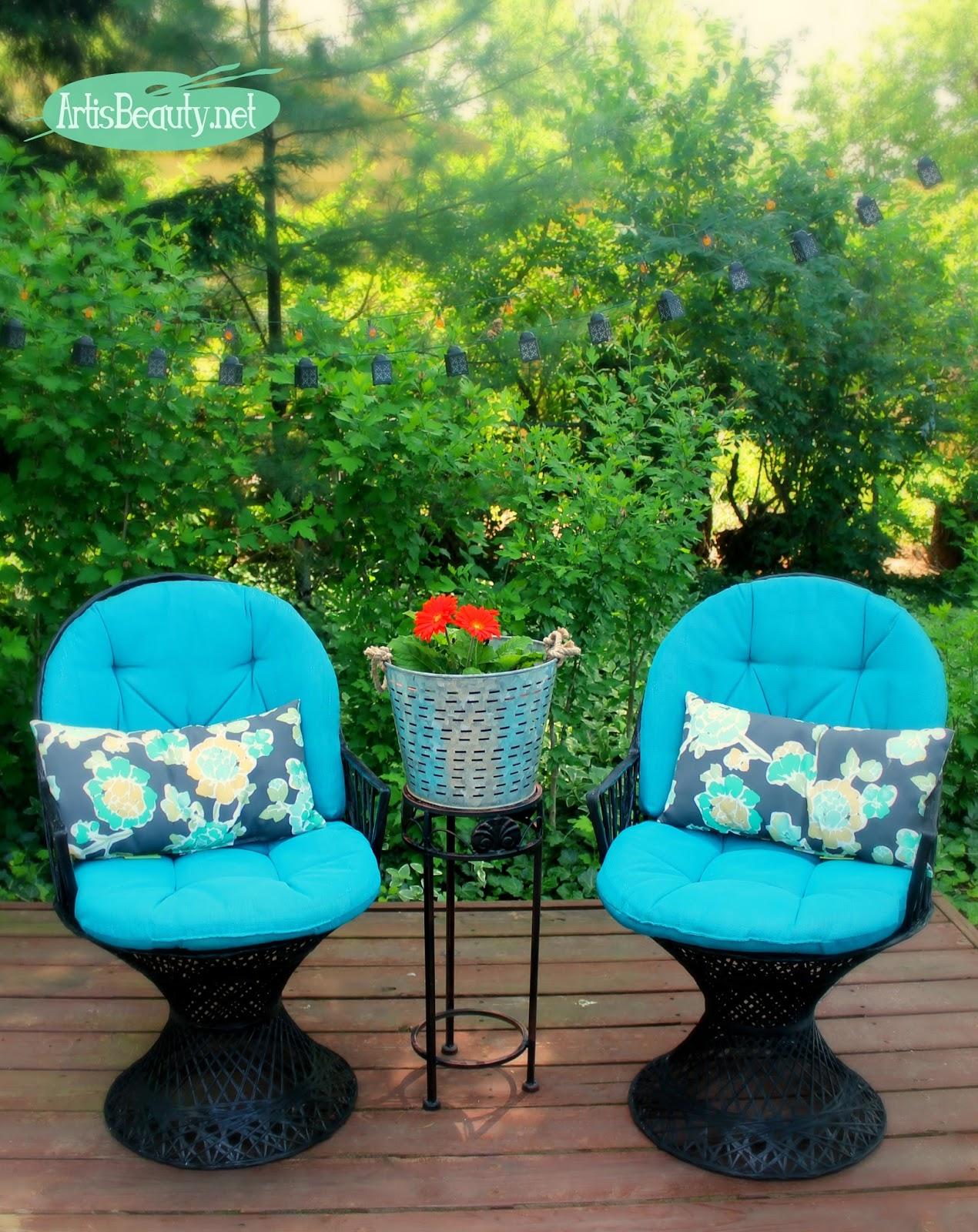 10 Patio Chair set Spray Painted Makeover simphome com