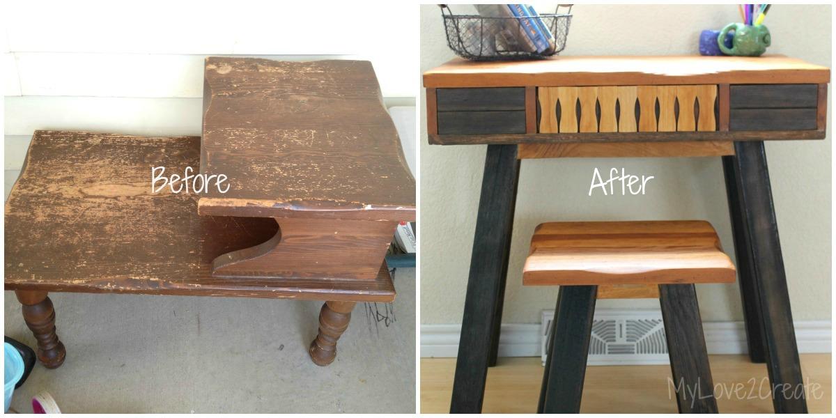 15 an end table into a desk Simphome com