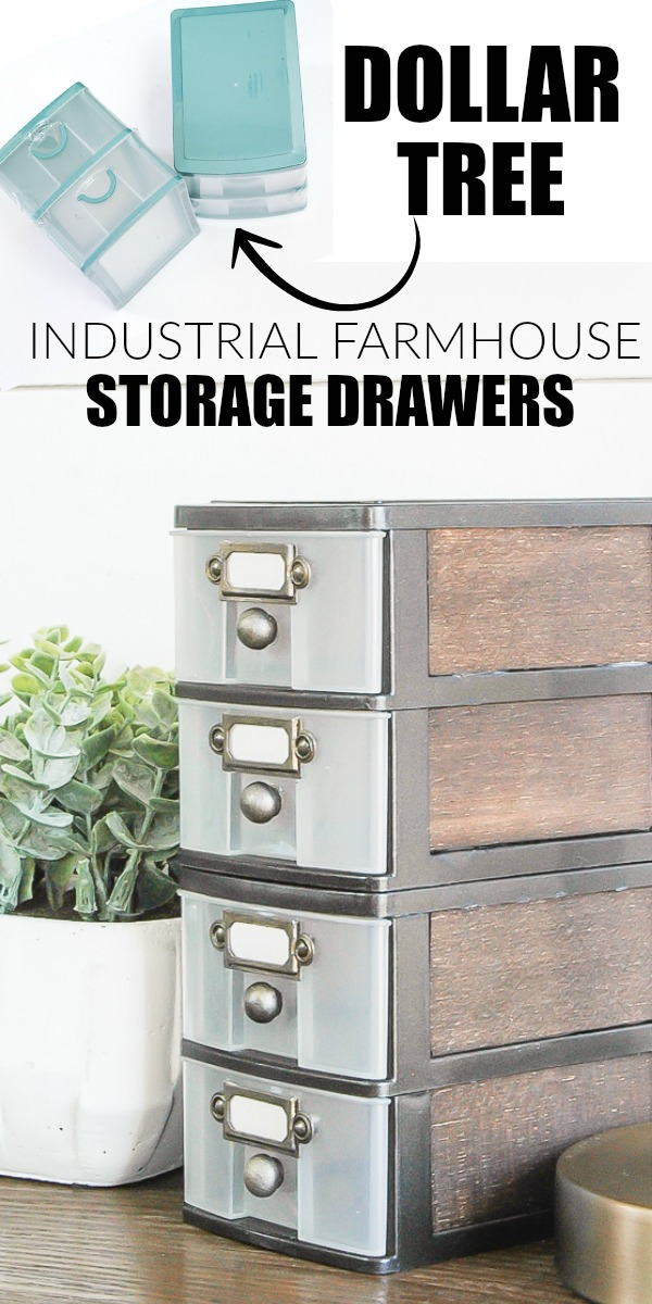 3 Industrial Farmhouse Look Combine with Dollar Tree Storage Simphome com